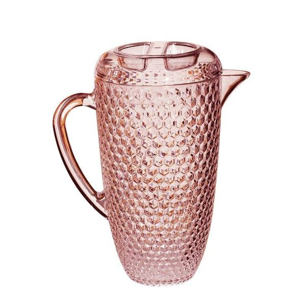 Acrylic Diamond Cut Pink Pitcher with Lid, 2.75 Quart J. Schrecker Jewelry Hopkinsville, KY