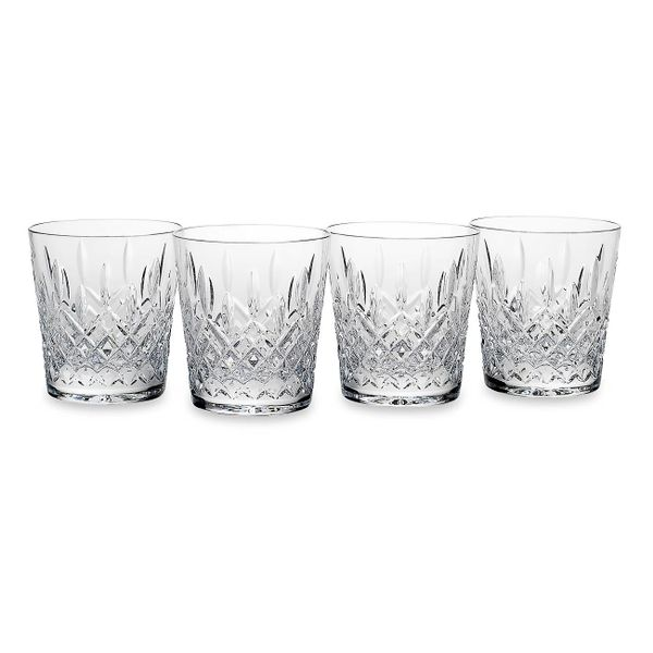 Reed & Barton Hamilton Set of Four Double Old Fashioned Crystal Glasses J. Schrecker Jewelry Hopkinsville, KY