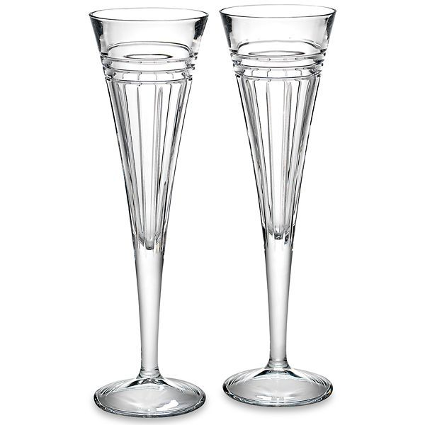 Pair of Reed & Barton Tempo Design Crystal Flutes J. Schrecker Jewelry Hopkinsville, KY