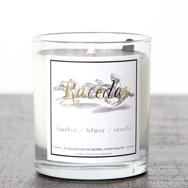 Raceday Hand Poured Soy Wax Candle J. Schrecker Jewelry Hopkinsville, KY