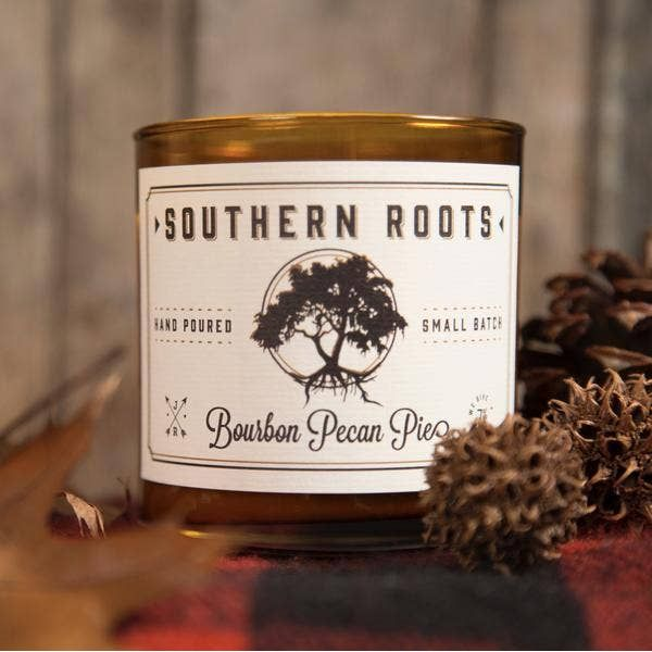 Southern Roots Bourbon Pecan Pie Hand Poured Small Batch Soy Wax Candle Image 2 J. Schrecker Jewelry Hopkinsville, KY