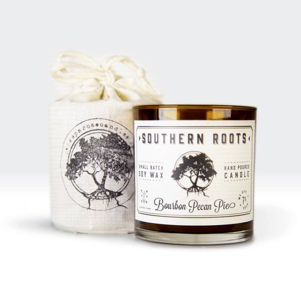 Southern Roots Bourbon Pecan Pie Hand Poured Small Batch Soy Wax Candle J. Schrecker Jewelry Hopkinsville, KY