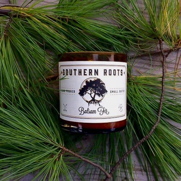 Southern Roots Balsam Fir Hand Poured Small Batch Soy Wax Candle Image 2 J. Schrecker Jewelry Hopkinsville, KY