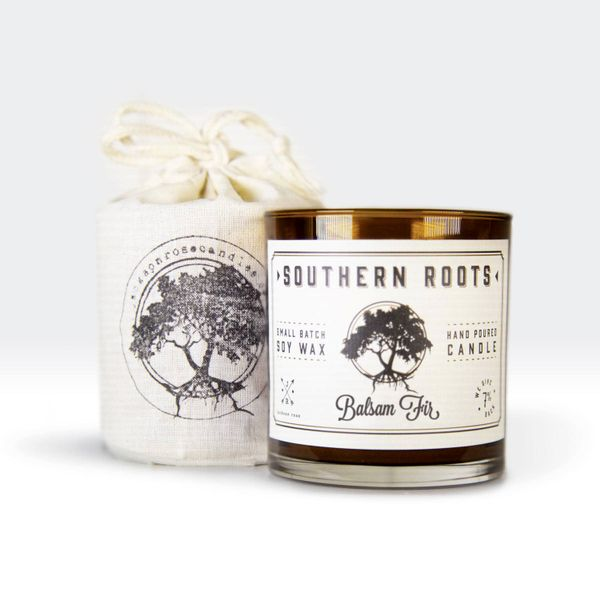 Southern Roots Balsam Fir Hand Poured Small Batch Soy Wax Candle J. Schrecker Jewelry Hopkinsville, KY