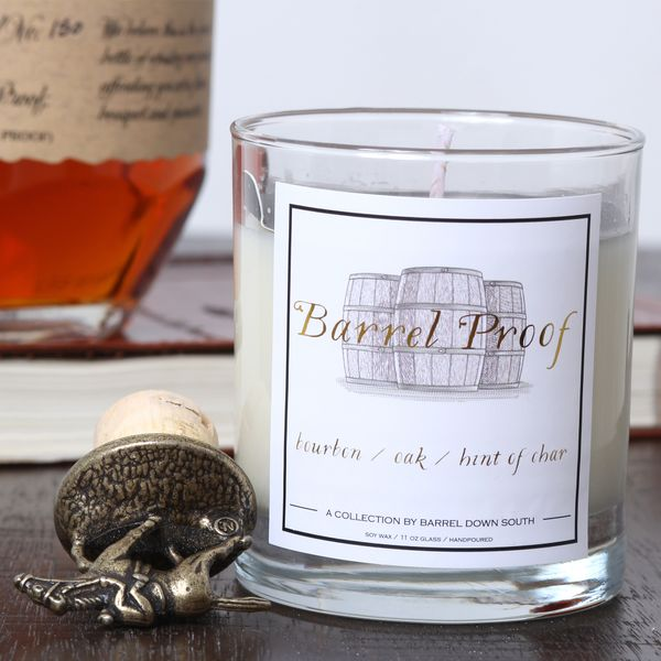 Bourbon Barrel Proof Hand Poured Soy Wax Candle J. Schrecker Jewelry Hopkinsville, KY