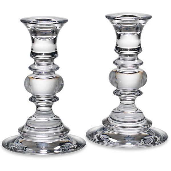 Pair of Reed & Barton 6 Inch Weston Crystal Candlesticks J. Schrecker Jewelry Hopkinsville, KY