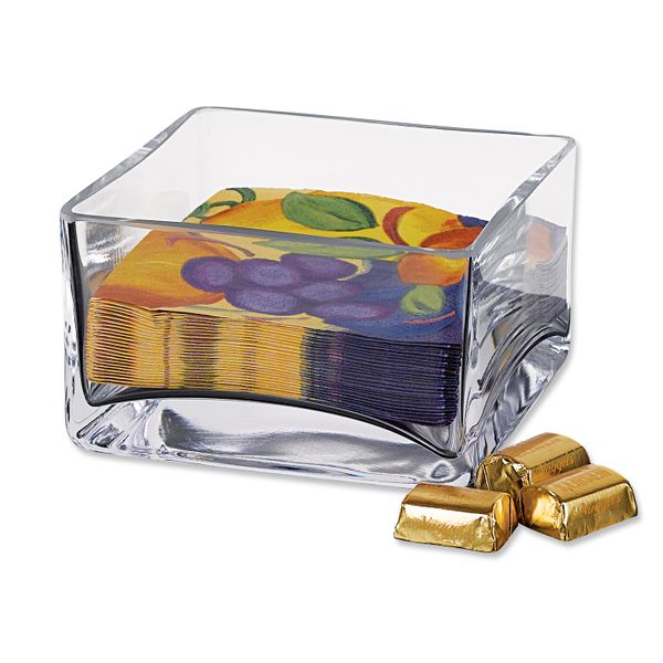 Crystal Square Napkin Holder J. Schrecker Jewelry Hopkinsville, KY