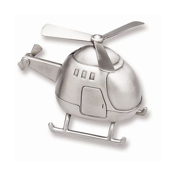 Helicopter Bank in Pewter Finish J. Schrecker Jewelry Hopkinsville, KY