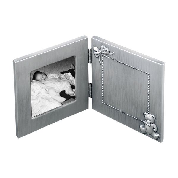 Engravable Hinged Brushed Pewter Finish Baby Frame J. Schrecker Jewelry Hopkinsville, KY