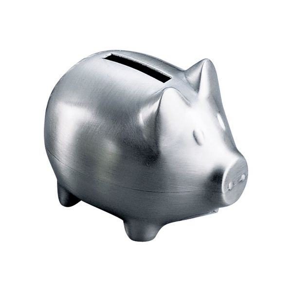 Small Piggy Bank in a Brushed Pewter Finish J. Schrecker Jewelry Hopkinsville, KY