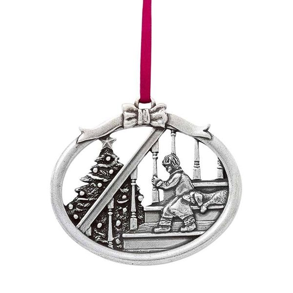 Magic of Christmas Pewter Ornament J. Schrecker Jewelry Hopkinsville, KY