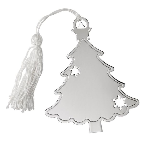 Engravable Tree Ornament with Snowflakes J. Schrecker Jewelry Hopkinsville, KY