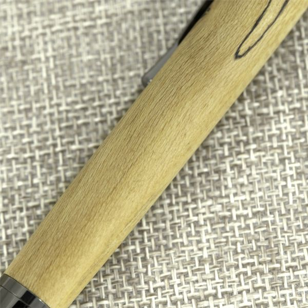 Hand Turned Spalted Maple Wood Ballpoint Pen Image 2 J. Schrecker Jewelry Hopkinsville, KY