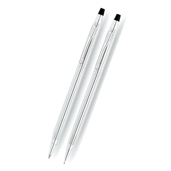 Classic Century Pen & Pencil Set in Lustrous Chrome J. Schrecker Jewelry Hopkinsville, KY