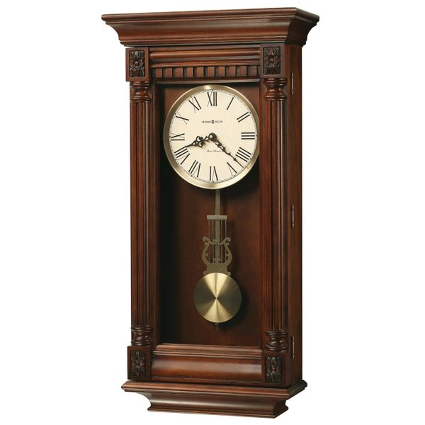 Howard Miller Lewisburg Wood Wall Clock J. Schrecker Jewelry Hopkinsville, KY