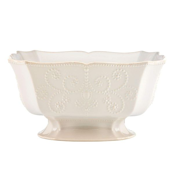 Lenox Footed Centerpiece Bowl in French Perle White J. Schrecker Jewelry Hopkinsville, KY