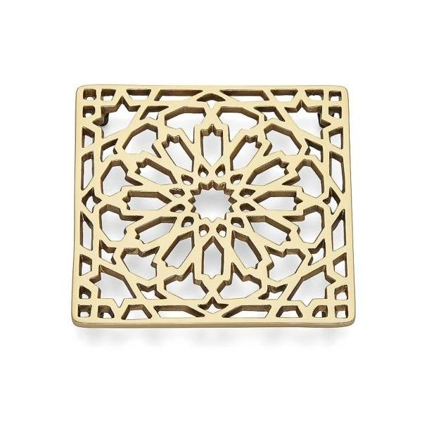 Polished Bronze Finished Metal Square Design Trivet, 7 Inch J. Schrecker Jewelry Hopkinsville, KY