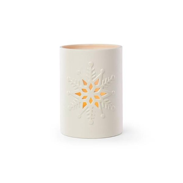 Lenox Large Snowflake Votive in Cream Bisque Porcelain Image 2 J. Schrecker Jewelry Hopkinsville, KY
