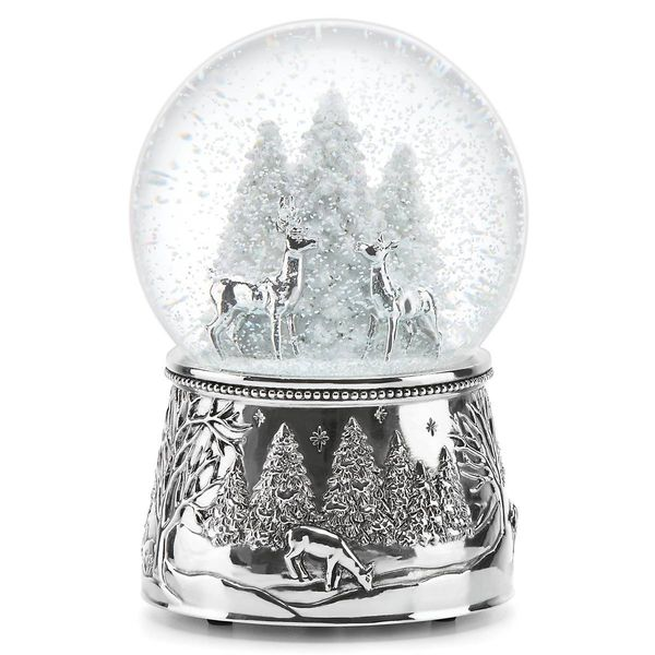 Reed & Barton North Pole Bound Deer Musical Snow Globe Plays 'Silent Night' J. Schrecker Jewelry Hopkinsville, KY
