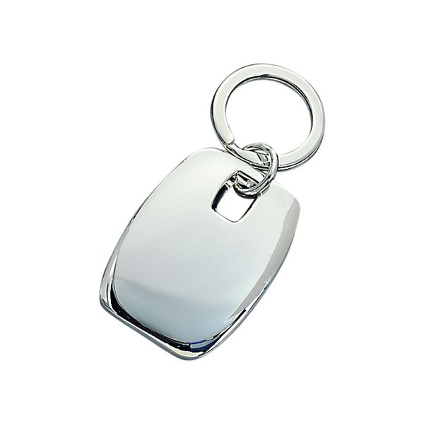 Engravable Puffed Rectangle Key Ring J. Schrecker Jewelry Hopkinsville, KY