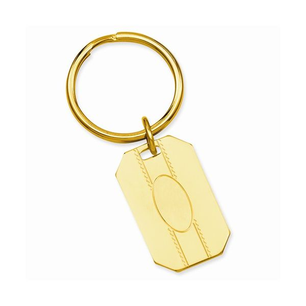 Engravable Gold Plated Key Ring J. Schrecker Jewelry Hopkinsville, KY