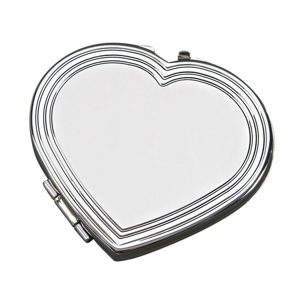 Silhouette Heart Engravable Compact Mirror J. Schrecker Jewelry Hopkinsville, KY