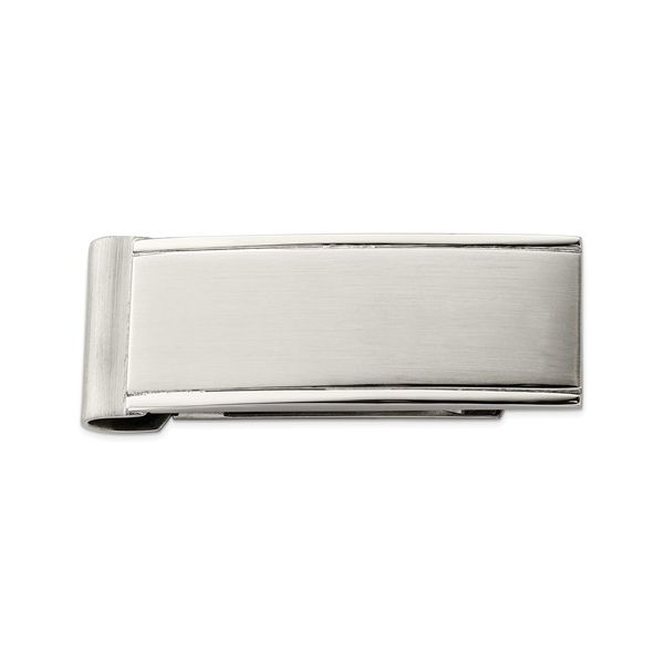Stainless Steel Money Clip in Polished and Brushed Finish J. Schrecker Jewelry Hopkinsville, KY