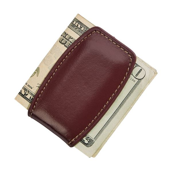 Brown Leather Money Clip with Magnetic Closure J. Schrecker Jewelry Hopkinsville, KY