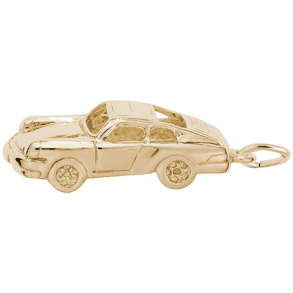 Gold Plated Sterling Silver Three Dimensional 911 Coupe German Sports Car Charm J. Schrecker Jewelry Hopkinsville, KY