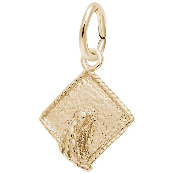 Yellow Gold Three Dimensional Graduation Cap Charm J. Schrecker Jewelry Hopkinsville, KY
