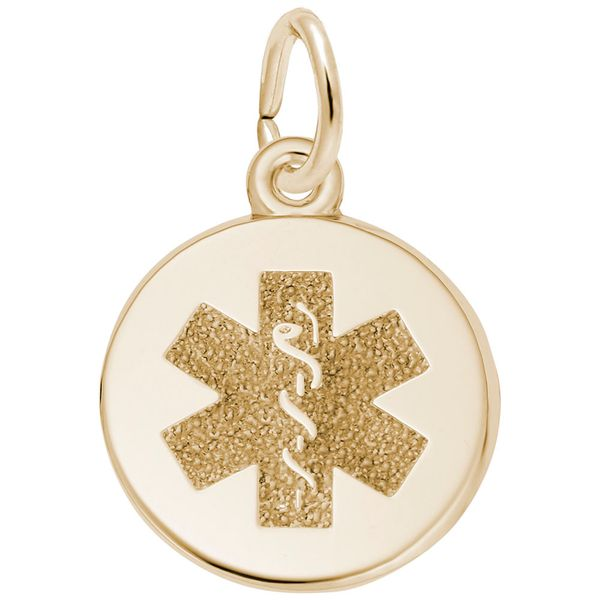 Gold Plated Sterling Silver Medical Symbol Disc Charm J. Schrecker Jewelry Hopkinsville, KY