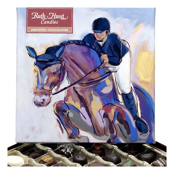 Ruth Hunt 8 Ounce Deluxe Equine Box Assorted Chocolates J. Schrecker Jewelry Hopkinsville, KY