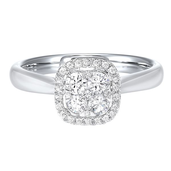 Cushion Diamond Halo Engagement Ring J. Thomas Jewelers Rochester Hills, MI