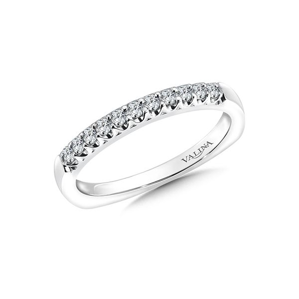 Valina Diamond Wedding Band In 14K White Gold J. Thomas Jewelers Rochester Hills, MI