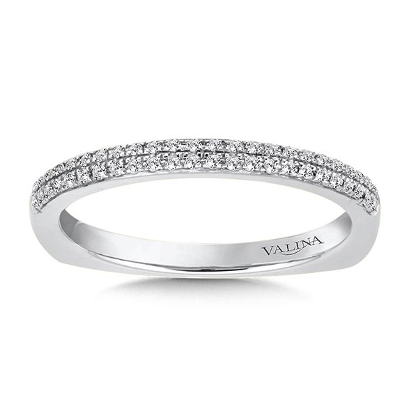 Valina 14K White Gold Stackable Wedding Band J. Thomas Jewelers Rochester Hills, MI