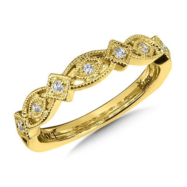 Valina 14K Yellow Gold Stackable Wedding Band J. Thomas Jewelers Rochester Hills, MI