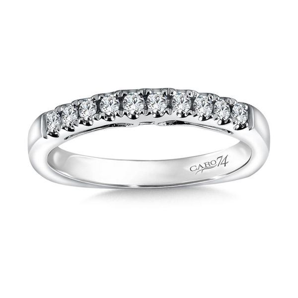 Caro74 Shared Prong Diamond Band J. Thomas Jewelers Rochester Hills, MI