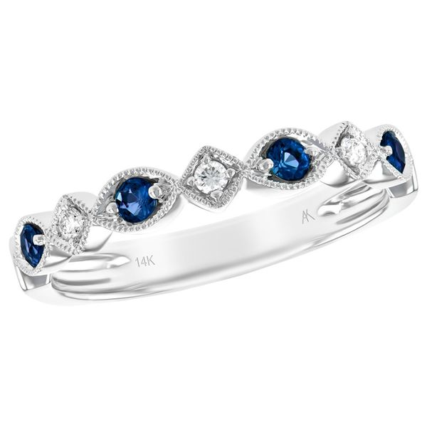 Sapphire And Diamond Stackable J. Thomas Jewelers Rochester Hills, MI