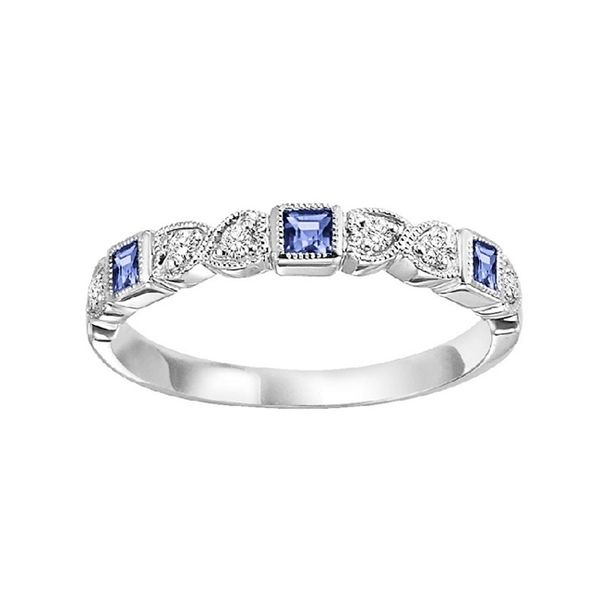 Diamond and Sapphire Stackable J. Thomas Jewelers Rochester Hills, MI