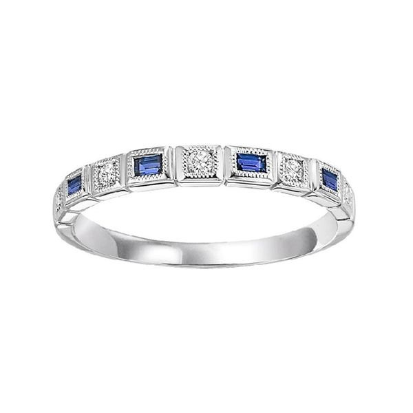Blue Sapphire and Diamond Stackable J. Thomas Jewelers Rochester Hills, MI