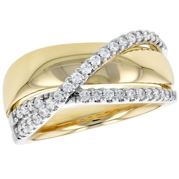 Yellow And White Gold Diamond Ring J. Thomas Jewelers Rochester Hills, MI