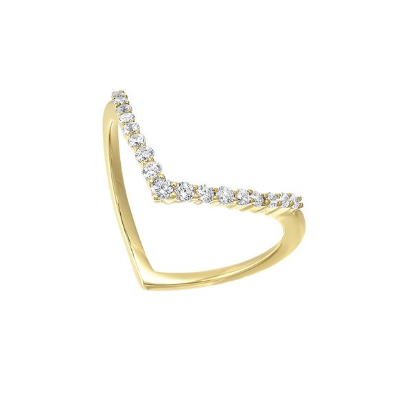 Yellow Gold Geometric Diamond Ring J. Thomas Jewelers Rochester Hills, MI