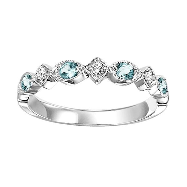 Mixable Collection - BlueTopaz And Diamond Ring J. Thomas Jewelers Rochester Hills, MI