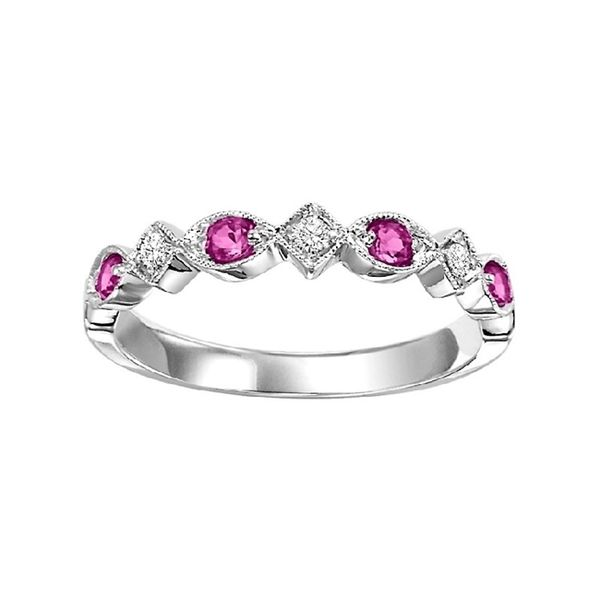Ruby and Diamond Stackable Ring J. Thomas Jewelers Rochester Hills, MI