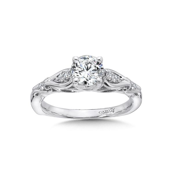 Caro74 Diamond Engagement Ring in 14K White Gold J. Thomas Jewelers Rochester Hills, MI