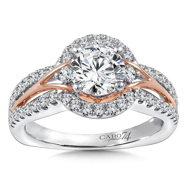 White And Rose Gold Diamond Ring J. Thomas Jewelers Rochester Hills, MI