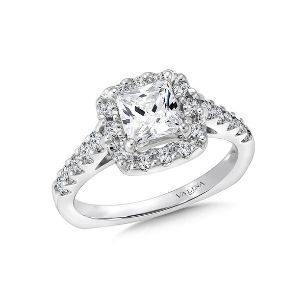Valina Diamond Engagement Ring In 14K White Gold J. Thomas Jewelers Rochester Hills, MI