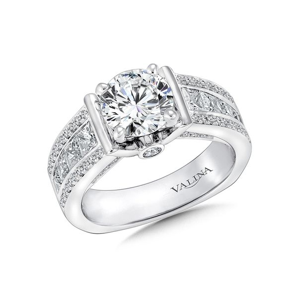 Valina Princess And Round Engagement Ring J. Thomas Jewelers Rochester Hills, MI
