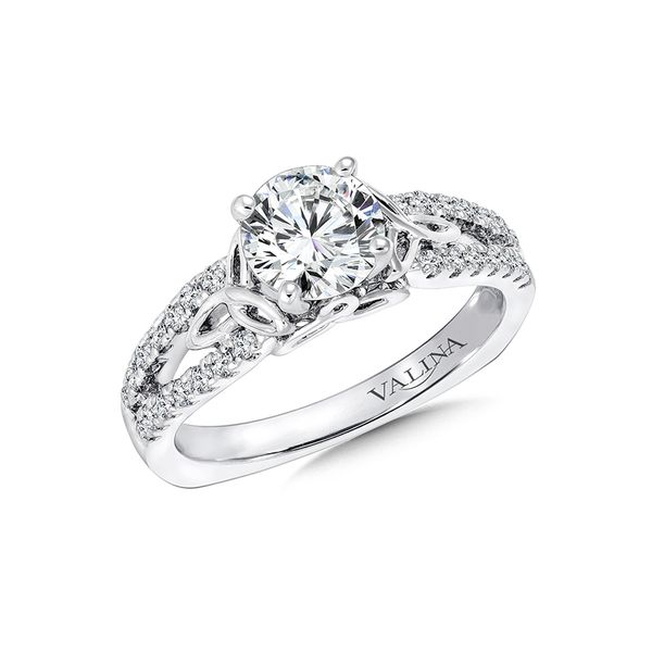 Valina Celtic Motif Engagement Ring J. Thomas Jewelers Rochester Hills, MI