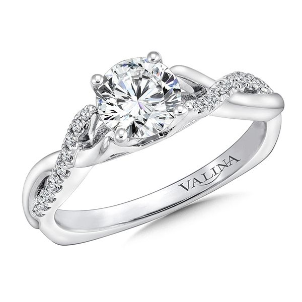 Valina Cathedral Design Engagement Ring J. Thomas Jewelers Rochester Hills, MI